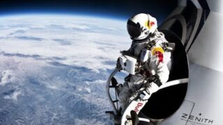 Record breaking space jump – free fall faster than speed of sound – Red Bull Stratos.